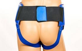 Защита паховая мужская с высоким поясом Twins APL-1-BU синяя - Фото №3