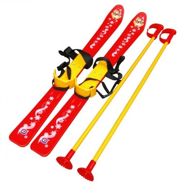 Лыжи детские Snow Pinguin 78 см красные
