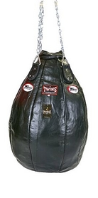 Чехол каплевидного боксерского мешка кожаный (без наполнителя) Twins PPL-BK-S черный