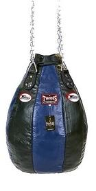 Чехол каплевидного боксерского мешка кожаный (без наполнителя) Twins PPL-BU-S синий