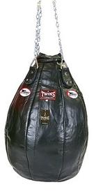Чехол каплевидного боксерского мешка кожаный (без наполнителя) Twins PPL-BK-M черный