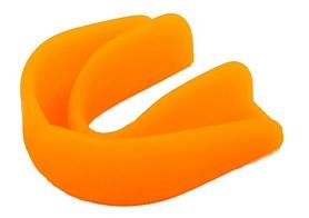 Капа боксерская односторонняя (одночелюстная) в футляре Twins MG-1-OR оранжевая