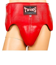 Защита паховая мужская с высоким поясом Twins APL-1-RD красная