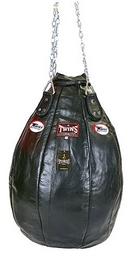 Чехол каплевидного боксерского мешка кожаный (без наполнителя) Twins PPL-BK-L черный
