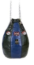Чехол каплевидного боксерского мешка кожаный (без наполнителя) Twins PPL-BU-L синий