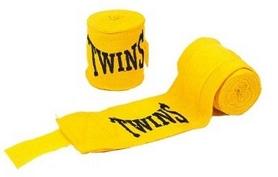 Бинт боксерский Twins MA-5466-3(Y) желтый, 3 м