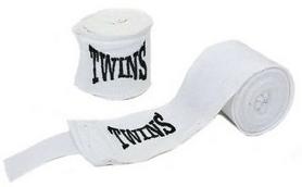 Бинт боксерский Twins MA-5466-3(W) белый, 3 м