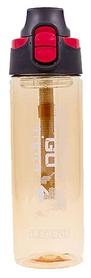 Распродажа*! Бутылка для воды спортивная Tritan FI-6435-4 600 мл коричневая