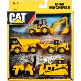 "Машинки Toy State Cat ""Мини-техника"", 5 шт"