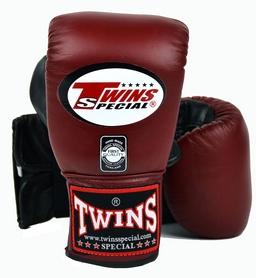 Перчатки снарядные кожаные Twins TBGL-6F-BR бордовые