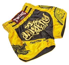 Трусы для тайского бокса Twins TBS-DRAGON-2 желтые