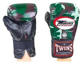 Перчатки снарядные кожаные Twins FTBGL-1F-JG зеленые