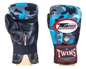Перчатки снарядные кожаные Twins FTBGL-1F-NB синие