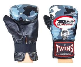 Перчатки снарядные кожаные Twins FTBGL-1F-UG серые
