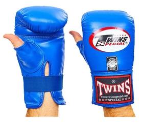 Перчатки снарядные кожаные Twins TBGL-1H-BU синие