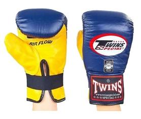 Перчатки снарядные кожаные Twins TBGL-6F-BU желто-синие