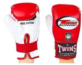 Перчатки снарядные кожаные Twins TBGL-6F-RD бело-красные