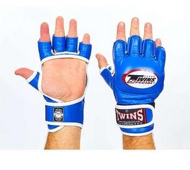 Перчатки для ММА Twins GGL-6-BU синие