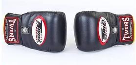 Распродажа*! Перчатки снарядные кожаные Twins TBGL-1F-BK черные - XL - Фото №3