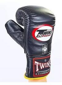 Распродажа*! Перчатки снарядные кожаные Twins TBGL-1F-BK черные - XL - Фото №4