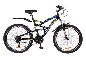 """Велосипед 26"""" Discovery CANYON AM2 14G  DD  рама-19"""" St черно-сине-зеленый  с крылом Pl 2018"""