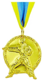 """Медаль спортивная Grante """"Карате""""  C-4338-1 золото"""