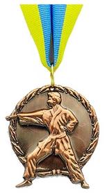"Медаль спортивная Grante ""Карате""  C-4338-3 бронза"