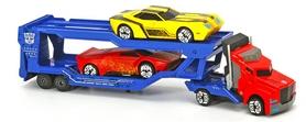 Автотранспортер металлический Dickie Toys Трансформер Оптимус Прайм с двумя машинками