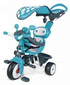 Велосипед трехколесный Smoby Toys Комфорт, голубой (740601)