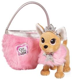 """Собачка Simba Toys Чихуахуа Фешн """"Принцесса красоты в меховом манто с тиарой и сумочкой"""" 589 3126"""