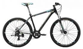 """Велосипед горный Kinetic Storm 27,5"""" черно-голубой 2018, рама - 17"""""""