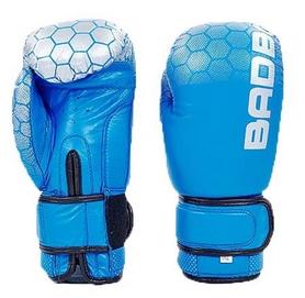 Перчатки боксерские кожаные Bad Boy, синие