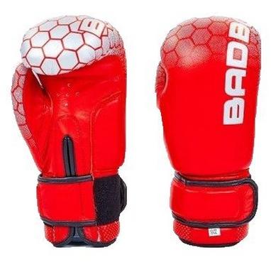 Перчатки боксерские кожаные Bad Boy, красные