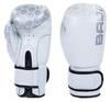 Перчатки боксерские кожаные Bad Boy, бело-серебристые - фото 1