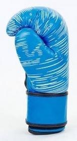 Фото 2 к товару Перчатки боксерские кожаные Venum, синие