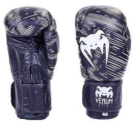 Перчатки боксерские кожаные Venum, черные