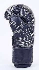 Фото 2 к товару Перчатки боксерские кожаные Venum, черные