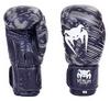 Перчатки боксерские кожаные Venum, черные - фото 1
