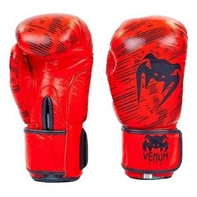 Перчатки боксерские кожаные Venum, красные