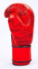 Фото 3 к товару Перчатки боксерские кожаные Venum, красные