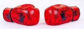 Фото 4 к товару Перчатки боксерские кожаные Venum, красные