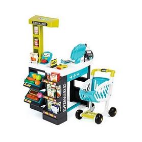 Супермаркет интерактивный с тележкой, продуктами и аксессурами Smoby Toys