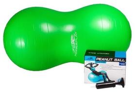 Мяч для фитнеса (фитбол) орех с насосом 100х50 см PowerPlay 4004 зеленый