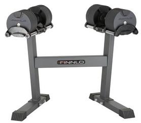 Гантели наборные со стойкой Finnlo Smart Lock 6774, 2 шт по 32 кг
