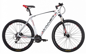 "Велосипед горный Winner Gladiator 2018 - 29"", рама - 22"", белый"