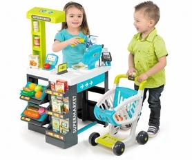 Фото 2 к товару Супермаркет интерактивный City Shop с тележкой, продуктами и аксессуарами Smoby Toys зеленый