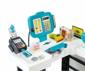 Фото 3 к товару Супермаркет интерактивный City Shop с тележкой, продуктами и аксессуарами Smoby Toys зеленый
