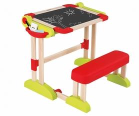 Парта-доска деревянная регулируемая с аксессуарами Smoby Toys