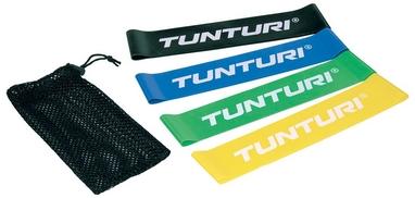 Набор эластичных мини-лент для йоги/пилатеса Tunturi Mini Resistance Band Set, 4 шт
