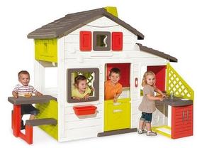 Домик игровый Smoby Toys с чердаком и летней кухней 810200
